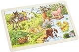 goki 57890 - Einlegepuzzle - Tierkinder II