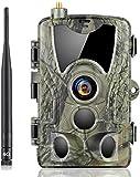 SUNTEKCAM 4G Wildkamera 20MP 1080P HD Jagdkamera Nachtsicht Bewegungsmelder IP66 Wasserdichter& Staubdicht Nachtsichtkamera mit HandyüBertragung MMS SMTP FTP Überwachungskamera