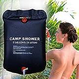Eamplest dusche solar Solardusche Tasche Camping, 5 Gallonen/20L Tragbare Solar Heizung Duschtasche, Camping Dusche Tasche,Outdoor Dusche