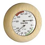 TFA Dostmann Sauna Thermo-Hygrometer, 40.1028, hitzebeständig, in Deutschland gefertigt