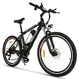 ANCHEER Elektrofahrrad Ebike Mountainbike, 26'/27.5' Elektrisches Fahrrad mit 36V 8Ah/10Ah/12.5Ah Lithium-Batterie und Shimano 21-Gang (26' Explorer Schwarz Rot 8Ah)