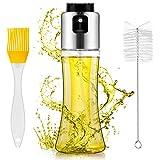 Omasi Ölsprüher Flasche 180ML, Öl Sprühflasche, Oil Sprayer mit Bürstefür Kochen und Gratis Tube Bürste, für Kochen, Salat, BBQ, Pasta, Grill Zubehör