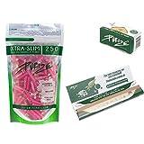 PURIZE® XTRA Slim Size Aktivkohlefilter SET (250er Spezial Set pink)