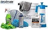 detailmate Set Auto Reinigung - Koch Chemie Nano Magic Shampoo 750ml, Eimer 5 GAL (ca. 20L), Grit Guard Schmutz Einsatz, super saugfähiger Wasch Handschuh Chenille beidseitig (Premium)