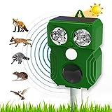 Ultraschall Solar Tiervertreiber, Katzenschreck, Mäuse Vertreiben,Marderschreck, Bewegungsmelder, Wetterfest IP66, Frequenz 9-70 kHz