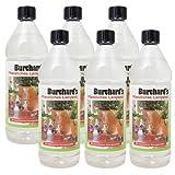 SUPER-Sparpaket Bio-Lampenöl von Dr. Burchard - OHNE ERDÖL - 6 Flaschen à 1 Liter - GRATIS Versand