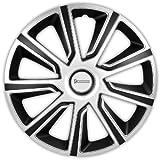 Michelin 92014 Radzierblenden Louise mit Reflektorsystem N.V.S., 4-er Set, 38.10 cm, 15 Zoll, Silber/Schwarz