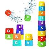 9 Stück Stapelbecher Baby,Kinder Stapeln Tassen,Stapel Tasse Spielzeug,Babyspielzeug stapeln Tassen,Baby Digitale Stapelbecher,Stapelbare Stapelbecher,Baby stapelbare Stapelbecher