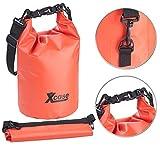 Xcase Wasserfester Sack: Wasserdichter Packsack, strapazierfähige Industrie-Plane, 5 l, rot (Gepäcktaschen)