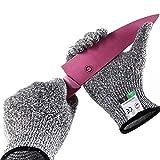Guyarns Schnittfeste Handschuhe Lebensmittelschutzstufe 5 und EN388-zertifizierte Gartenarbeiten, Heep-Kochhandschuhe zum Austernschälen, Schweißen und Holzschnitzen (S)