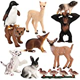 FLORMOON Tierfiguren 10 Stück Realistisch Niedliche Plastik Kleine Tierfiguren Wissenschafts Projekt Kuchendekoration Partyzubehör Klein Lernen Dschungeltiere Spielset für Kinder ab 3 Jahren