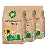 3x CLASEN BIO Sonnenblumenkerne - geschält, von Natur aus vegan und glutenfrei, biologischer Anbau - 500 g