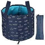 COLFULINE Outdoor Faltschüssel, 25L Faltschüssel Faltbare Camping Waschschüssel aus robustem PEVA, Waschbecken Zusammenklappbarer Wasserspeicherbehälter Klappbarer Camping-Eimer für Wandern Angeln usw