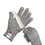 Yizhet Schnittschutz-Handschuhe Extra Starker Level 5 Sicherheitshandschuhe Arbeitshandschuhe-für Küche, im Garten, im Beruf Schneiden Schutz (Größe M)