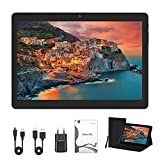 Tablet 10 Zoll (25.53cm), Android 10.0, Tablet PC, 4GB RAM/64GB ROM/ 1200x800 FHD, Dual SIM, WLAN, GPS, with Protective Cover (Black)