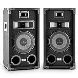 auna PA-800 Fullrange PA-Lautsprecher Paar 8' Tieftöner 800W max.