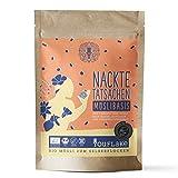YouFlake Müsli Basis (Bio) NACKTE TATSACHEN | Müsli für Flockenquetsche | Nackthafer, Sonnenblumenkerne & Leinsamen | 500g