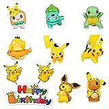 HONGECB Pokémon Cake Topper, Pokémon Tortendeko, Kuchen Dekoration Geburtstag Kinder, Pokémon Mini Figuren Set, Für Picknick, Babyparty, Geburtstagsfeier, 8 Stück Set