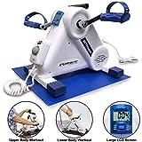 Exerpeutic ActivCycle Mini Heimtrainer, Beintrainer, Armtrainer mit Elektromotor, einstellbare Geschindigkeit, inklusive zusätzlicher Matte, nur 6kg Gewicht