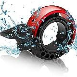 Taeku Fahrradklingel Aluminiumlegierung Lauten Fahrradglocke O-Design Mini Fahrrad Ring Radfahren für 22,2-23 mm Lenker (Rot)