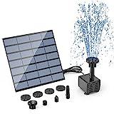 AISITIN DIY Solar Springbrunnen 2021 Upgrade Solarbrunnen Solarwasserbrunnen Solar Teichpumpe Solar Fontäne Pumpe Solar-Schwimmbrunnenpumpe mit 6 Fontänenstile für Garten, Vogel-Bad, Fisch-Behälter
