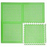 EYEPOWER 1cm Dicke Poolmatte Bodenmatte 1,59qm Bodenfolie Bodenfliese Unterlage für Pool Robustes Stecksystem mit Lüftung rutschfest Grün