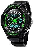 Digital Uhren für Kinder Jungen - Wasserdicht Outdoor Sports Digitaluhren Analog Armbanduhr mit Wecker/Timer/LED-Licht, Elektronische Stoßfest Handgelenk Uhr für Jugendliche Kinderuhren … (1060)