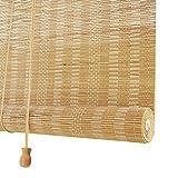 Bambusrollos Raffrollo,Bambus-Roll-Up-Jalousie-Sonnenschutz/Sichtschutz Rollo,Lichtfilter Bambus-Rollo für Wohnzimmer/Büro/Balkon/Raumteiler,mit Armaturen,Anpassbar(80x200cm/32x79in)