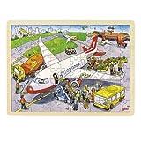 Goki 57544 - Einlegepuzzle - Auf dem Flughafen
