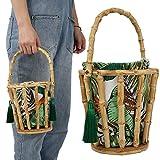 【𝐎𝐬𝐭𝐞𝐫𝐟ö𝐫𝐝𝐞𝐫𝐮𝐧𝐠𝐬𝐦𝐨𝐧𝐚𝐭】 Bambus gewebte Quasten Frau Handtasche, modische schöne Bambusrohr Quasten Tasche, Bambus gewebte Strand Reisetasche, für tägliche Kleid Strand Schwimmbad Par