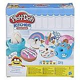 Play-Doh Kitchen Creations Bunte Donuts Set mit 4 Farben Knete, für fantasievolles und kreatives Spielen