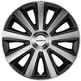"""Goodyear 10623 Auto Radzierblenden Radkappen Radblenden """"Memphis Carbon"""", 4er Set, 38.10 cm (15 Zoll), Schwarz/Silber"""