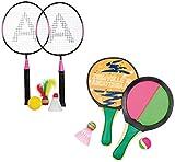 Haberkorn Beach Ball Set Badminton Beachball Klettball Soft Tennis 5 Bälle