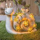 GloBrite Gartenfigur Solar Schnecke Figur – Gartenfigur Solarbetriebene Lichter Tierfigur für Hof Rasen Heimdekoration Geschenk