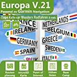 Europa Profi Outdoor Topo Karte - Topografische Outdoor Freizeitkarte kompatibel zu Garmin GPS Navigation - Zum Wandern, Radfahren, Wandern, Touren, Trekking, Geocachen, Sport & mehr