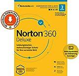 Norton 360 Deluxe 2021 | 3 Geräte | Antivirus | Unlimited Secure VPN & Passwort-Manager | 1 Jahr | PC, Mac oder Mobilgerät | Aktivierungscode per Email