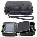 Digicharge Schwarzes Hartschalentasche für Tomtom Go Premium 6' Basic 6' Essential 6 Zoll 6200 6250 6100 620 610 Camper Professional GPS mit Tragegurt und Zubehörfach Pkw-Navi 15,2 cm