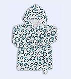 Ti TIN - frottee Kinderbademantel | Bademantel für Kinder von 3 bis 4 Jahren, aus 100% Baumwolle, Babybademantel mit Pinguinen, blau