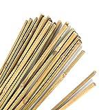 Pllieay natürliche Dicke Bambuspfähle Gartenpfähle Bambusstöcke für Pflanzenunterstützung, 40CM