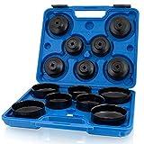 BITUXX 15 TLG. Universal Ölfilterkappen Ölfilterschlüssel Set Ölfilterwechsel Ölfilter PKW