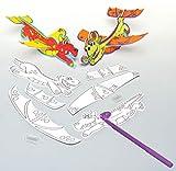 Baker Ross Drachen-Gleiter aus papierbezogenem Styropor für Kinder zum Basteln, Ausmalen und Spielen (6 Stück)