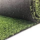 Carpeto Rugs Kunstrasen Rasenteppich für Garten Balkone Terrassen Wintergärten - Höhe: 7 mm Meterware Wasserdurchlässig 200 x 100 cm Grün
