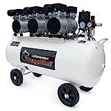 KnappWulf Flüster Kompressor Luftdruckkompressor KW2100 mit 100L Kessel 3 Motoren a 750W