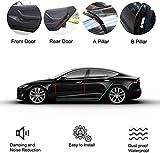 EEIEER 8 Pack Türdichtung Auto Gummi Dichtungsstreifen Kit für Te-sla Model 3 Autotür (Vordertür/Säulen/Tür Hinten), Selbstklebende Auto Gummi Dichtungsstreifen, Schallschutz & Geräuschreduzierung