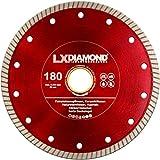 LXDIAMOND Diamant-Trennscheibe 180mm x 25,4mm Premium Diamantscheibe für Fliesen Feinsteinzeug Bodenfliesen Kreamik Natursteinfliesen Klinkerriemchen - extra dünn für exakte Schnitte 180 mm