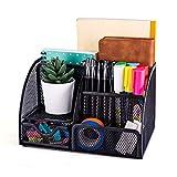 MDHAND Schreibtisch-Organizer und Zubehör aus Netzstoff mit 6 Fächern und Schublade