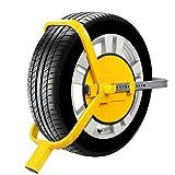 FIXKIT Radkralle Parkkralle Reifenkralle Wegfahrsperre Diebstahlsicherung Geeignet für PKW, Auto, Anhängersicherung (3 Schlüsseln)