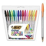 BIC Cristal Multicolour Kugelschreiber mit breiter Spitze - Verschiedene Farben, 15er Pack