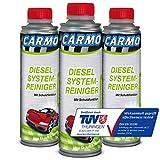 CARMO 3X Diesel System Reiniger | Einspritzsystem Reiniger | Injektor Reiniger | Diesel Additiv | Korrosionsschutz | TÜV-Geprüft | 250 ml Dose