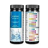 TOPHK Wassertester Trinkwasser, Upgrade 16 IN 1 Wasserteststreifen Trinkwasser mit 100 Stück Teststreifen für runnen und Leitungs Wasserqualitätstest zu erkennen pH, Wasserhärte,Blei, Nitrat,Bromin